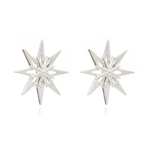 Rockstar Statement Stud Earrings - Silver