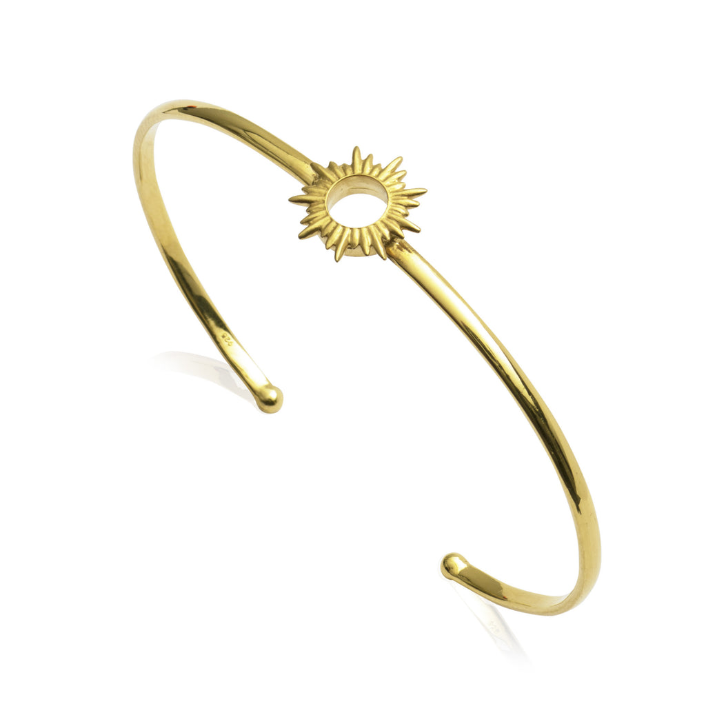 Rachel Jackson Woman Half Moon Gold-plated Bangle Gold Size Rachel Jackson London T51Irwa