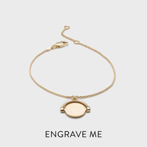 Personalised Mini Spinning Bracelet - Gold
