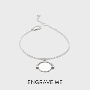 Personalised Mini Spinning Bracelet - Silver