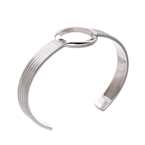 Eternity Circle Silver Bangle