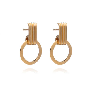 Eternity Circle Gold Hoop Earrings