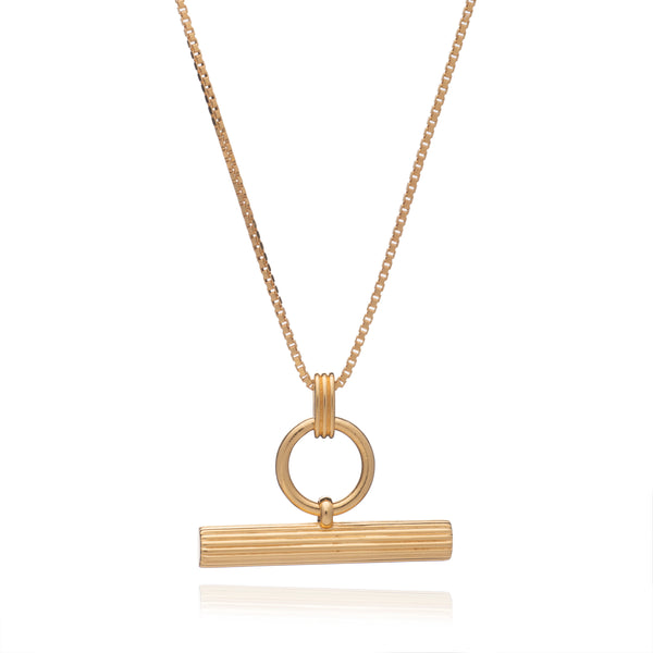 Personalised T-Bar Gold Necklace