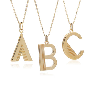 Statement Initial Necklace - Mid-length