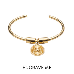 Zodiac Art Coin Star Bangle - Gold