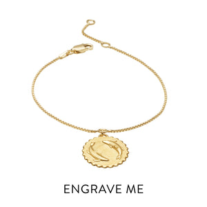 Zodiac Art Coin Bracelet - Gold