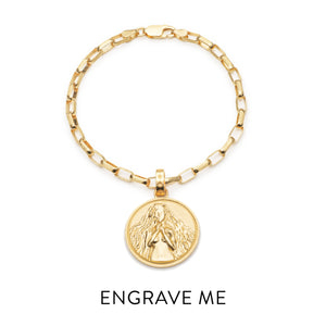 Statement Zodiac Art Coin Bracelet - Gold