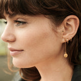 Luminary Art Coin Drop Earrings - Gold