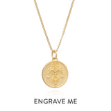 Zodiac Art Coin Necklace - Gold