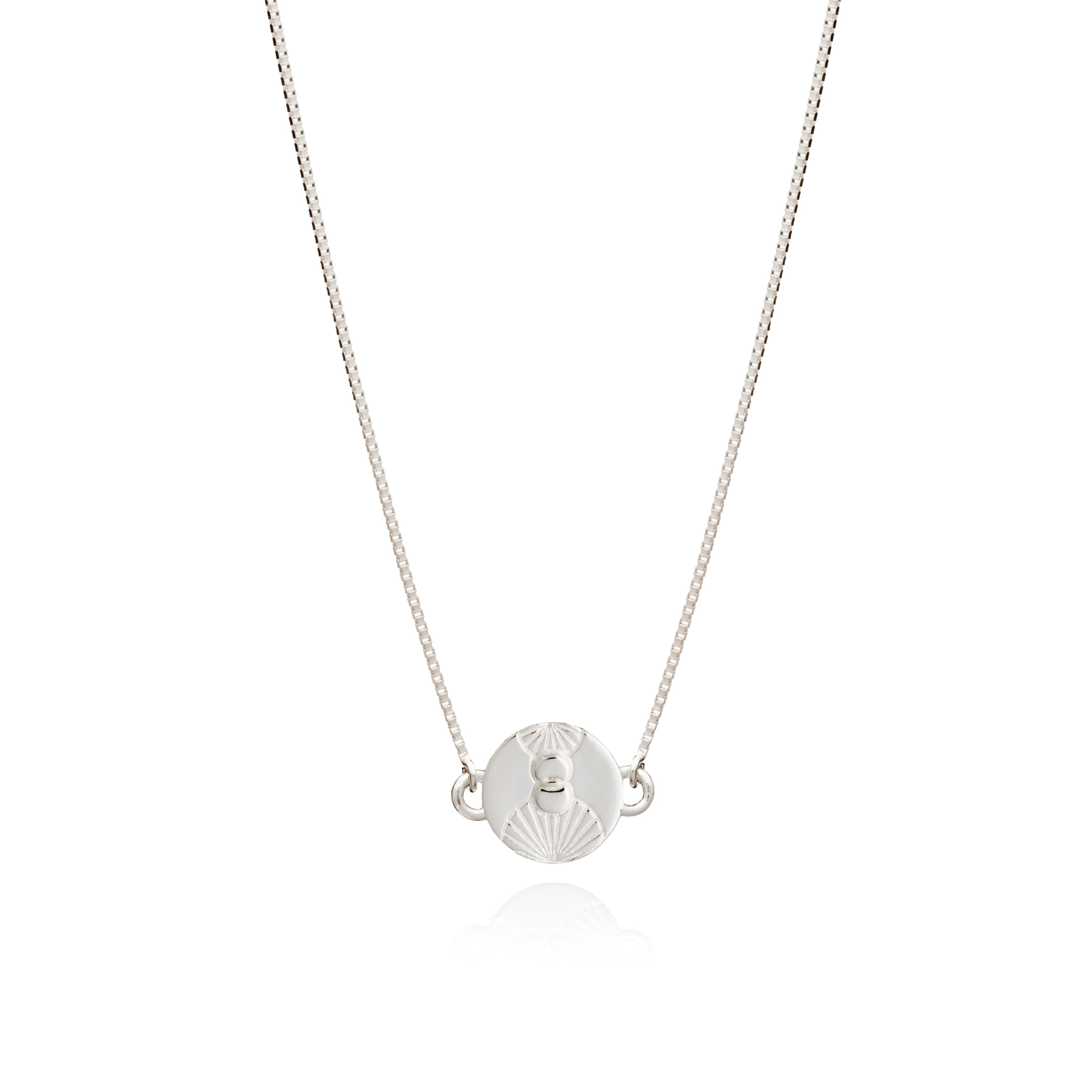 Luminary Art Coin Choker Necklace - Silver