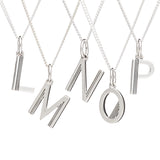 Initial necklace silver Rachel Jackson London