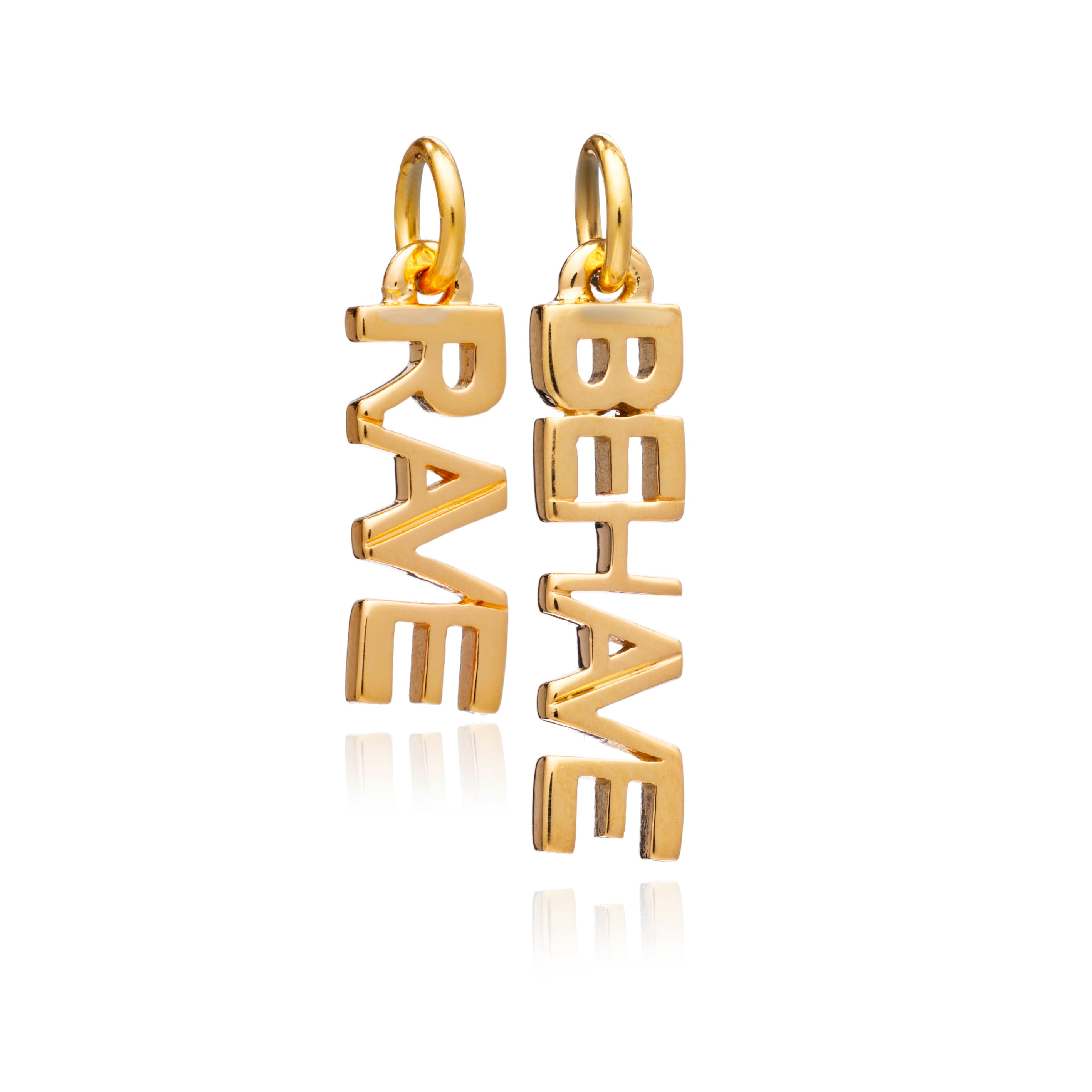 """Rave / Behave"" Charms  - Gold"