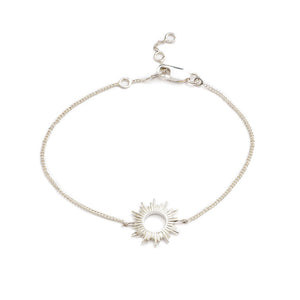 Electric Goddess Sun Bracelet - Silver