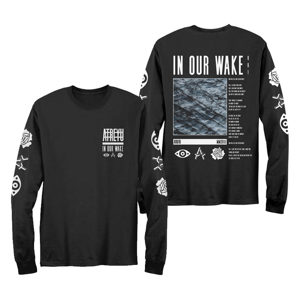 IN OUR WAKE BLACK LONGSLEEVE