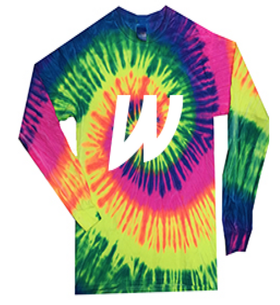 TIE DYE LONG SLEEVE TEE - YOUTH