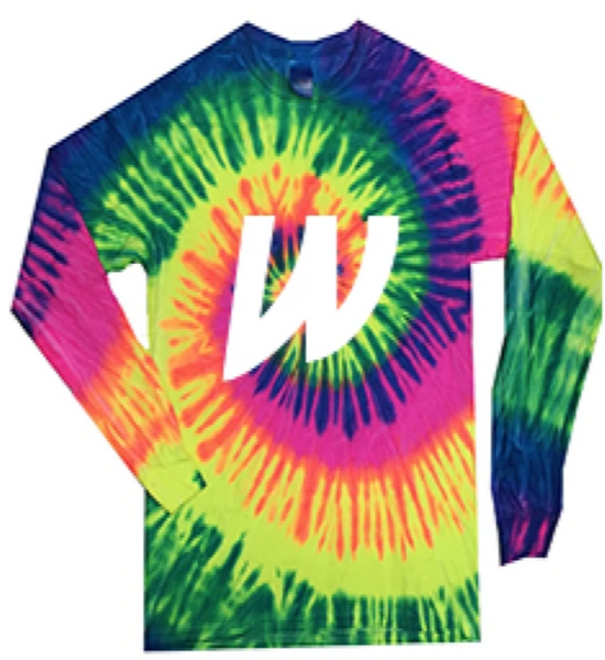 TIE DYE LONG SLEEVE TEE - ADULT