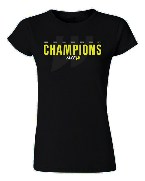 Ladies Milwaukee Wave World Champions Tee