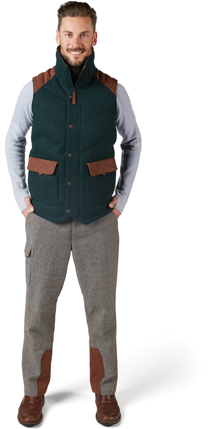 Grey Alpine Hooded Down-Filled Vest Alps & Meters Clearance Best Seller G8DoVf