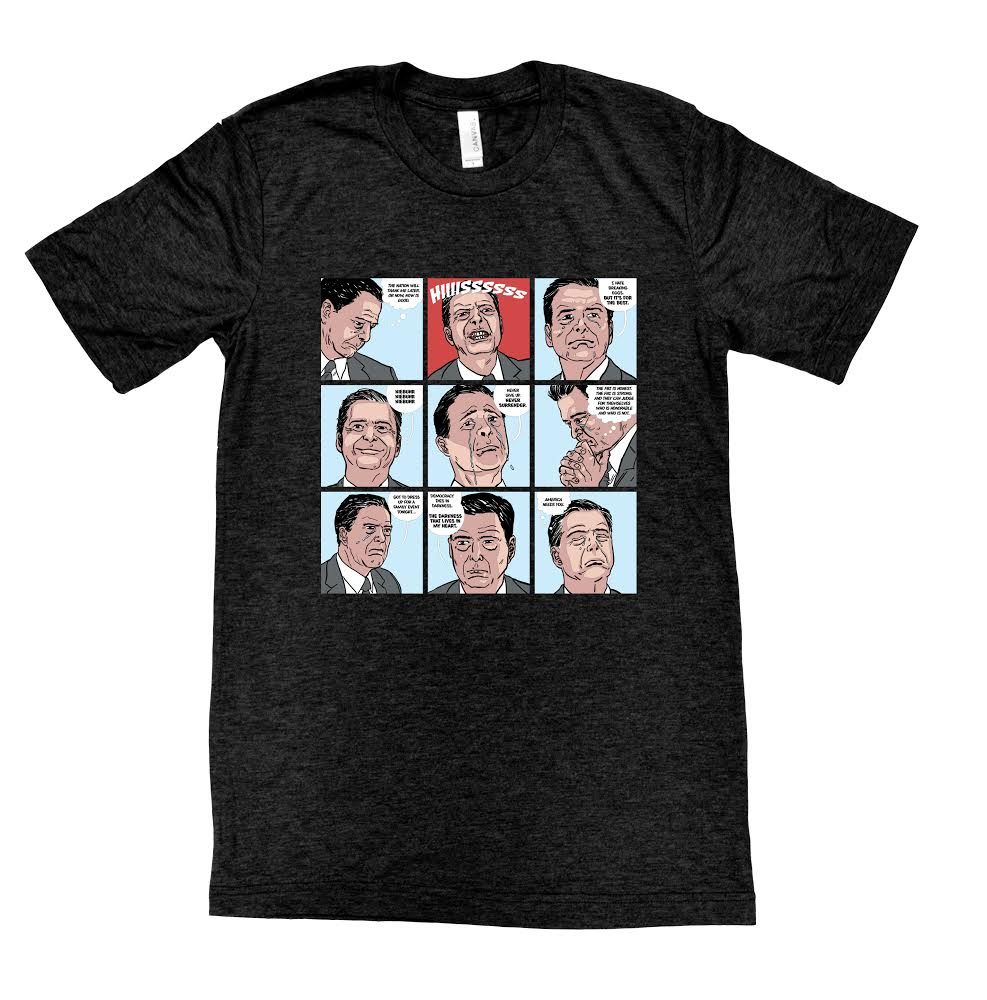 Emo Comey Graphic T-Shirt