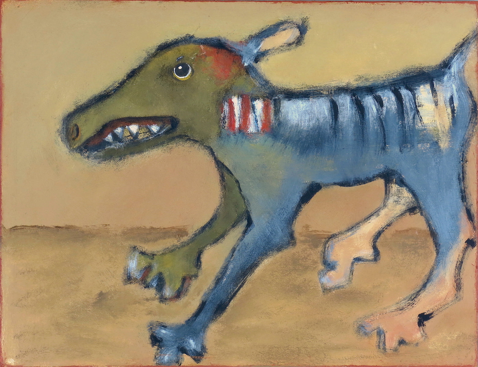 "SOLD   ""Fritz Defends His Territory"""