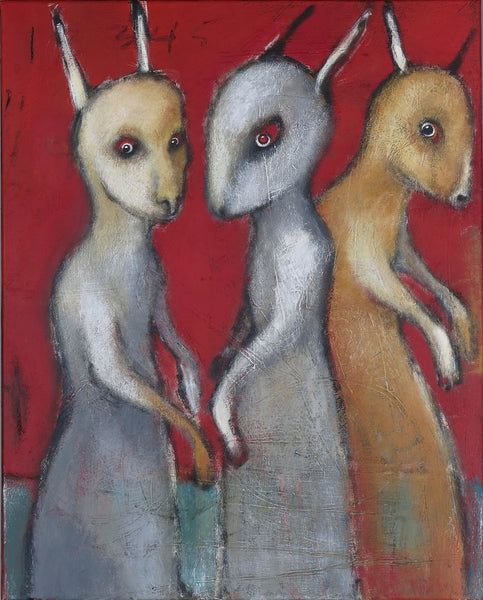 "SOLD   ""Strange Creatures Gather at Red Dawn to Share Their Secrets"""