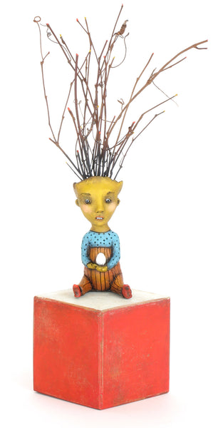 "SOLD   ""Anticipation"" original ceramic sculpture by Jacquline Hurlbert"