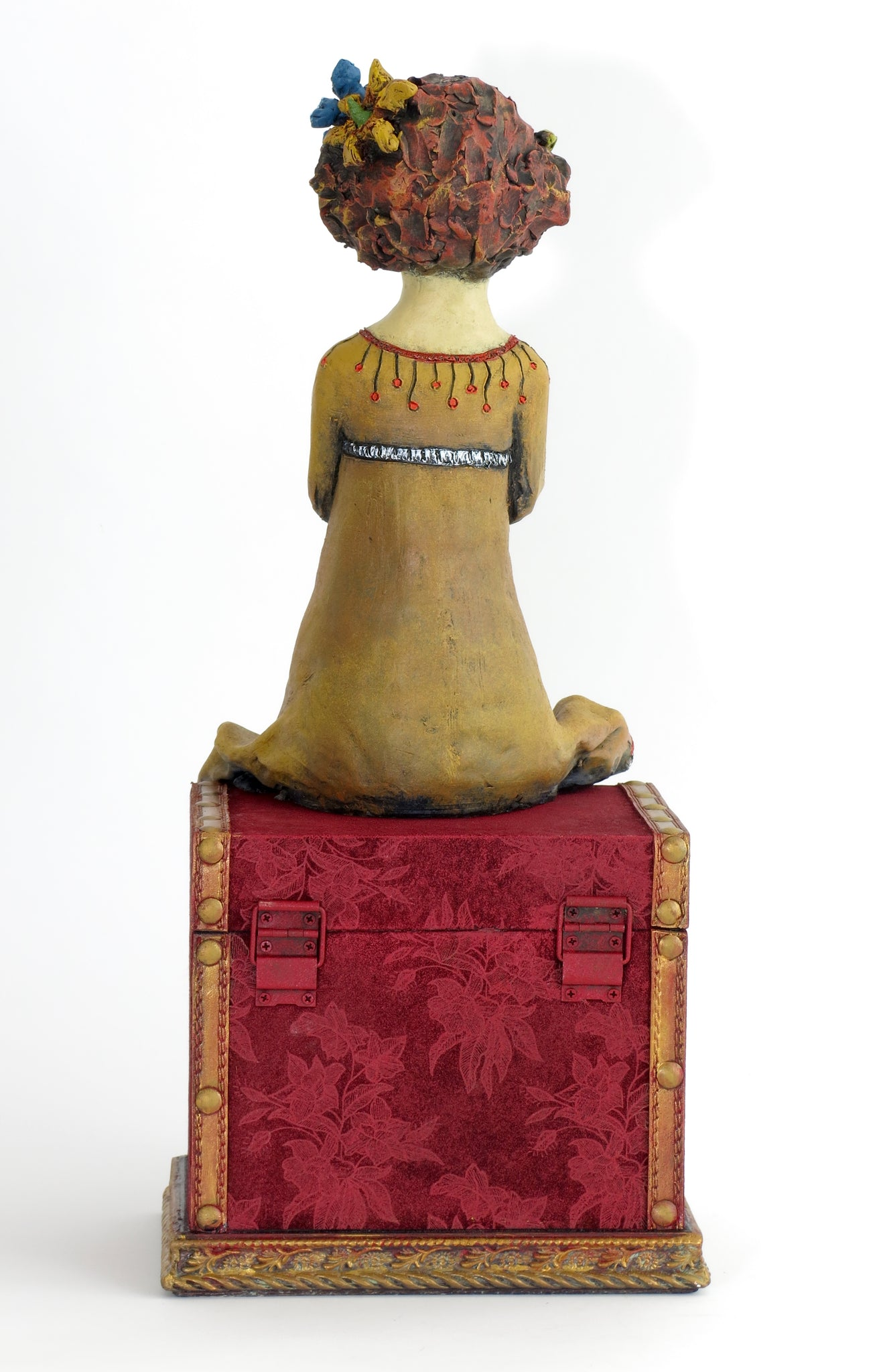 "SOLD   ""Precious Cargo"" Original ceramic sculpture by Jacquline Hurlbert"