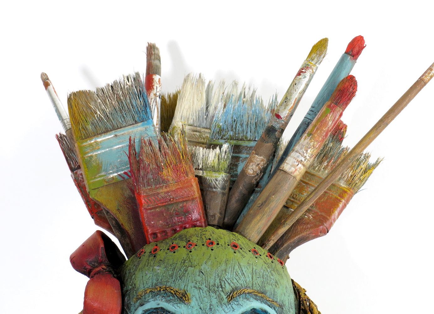 """Recounting My Many Brushes With Death"" Original ceramic sculpture by Jacquline Hurlbert"