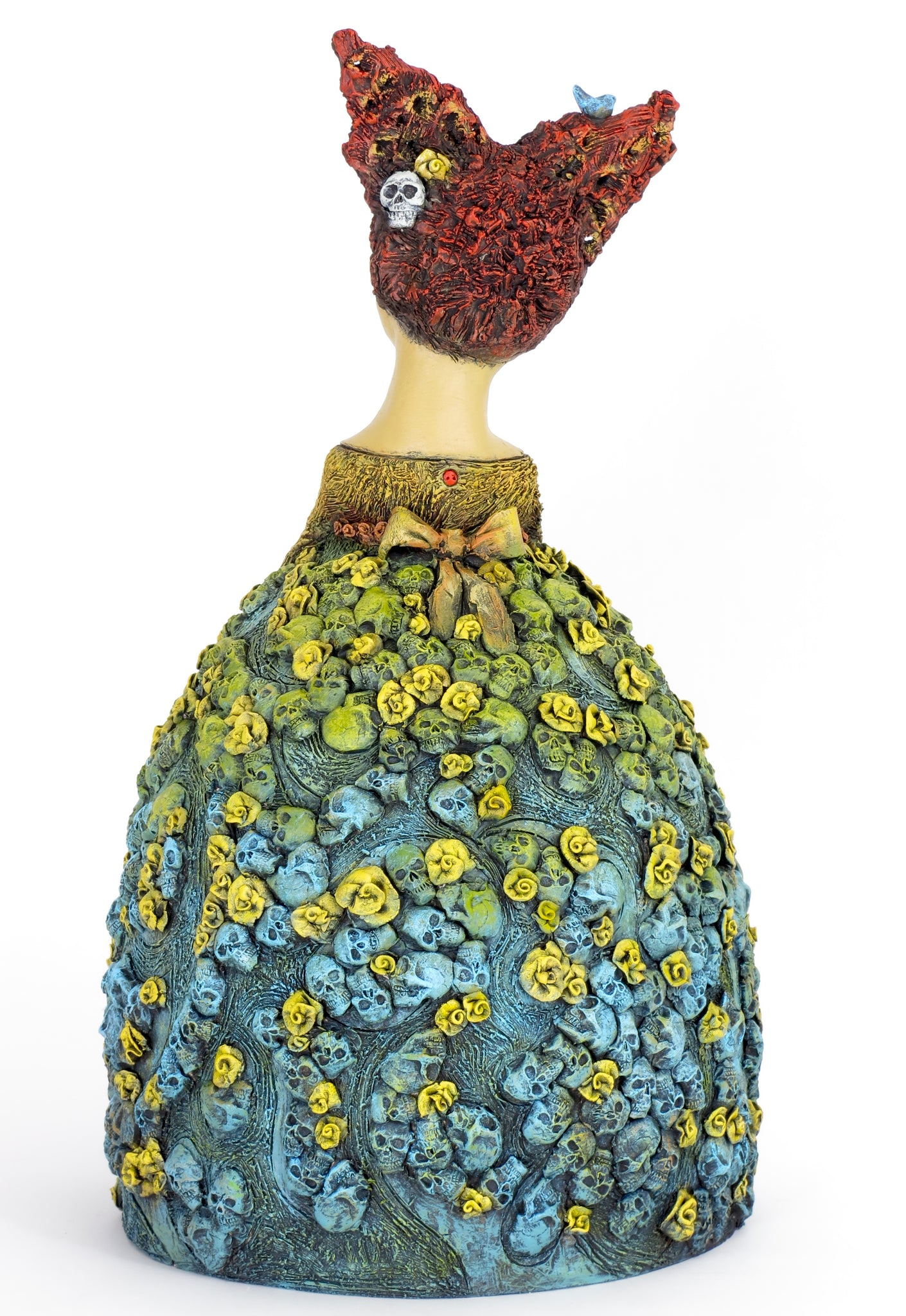 "SOLD   ""Garden of Memories"" Original ceramic sculpture by Jacquline Hurlbert"