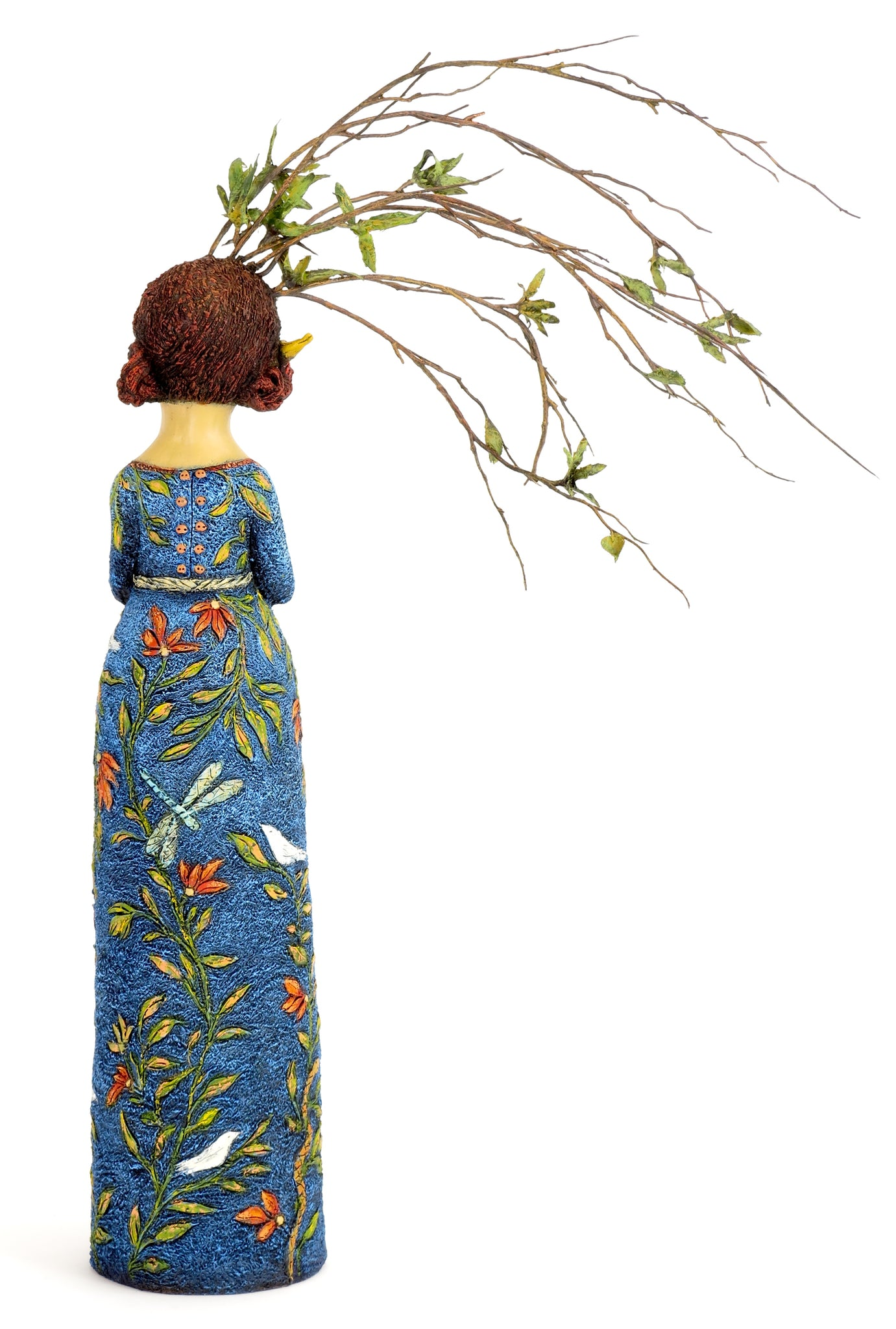 "SOLD   ""Gown of Blue Sky and Solitude"" Original ceramic sculpture by Jacquline Hurlbert"