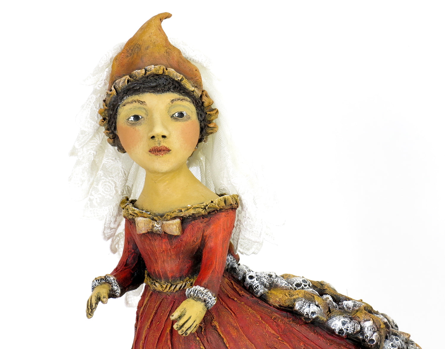 """Gown of Trailing Memories"" Original ceramic sculpture by Jacquline Hurlbert"