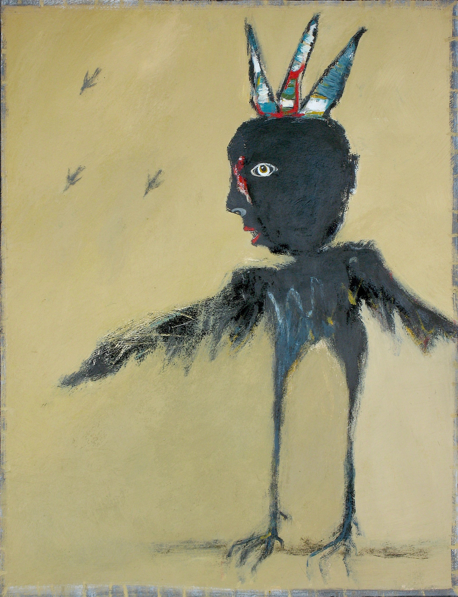 "SOLD   ""The Raven King Flaunts His Stolen Feathers"""