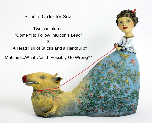 SPECIAL LISTING FOR SUZ!   original ceramic sculpture by Jacquline Hurlbert