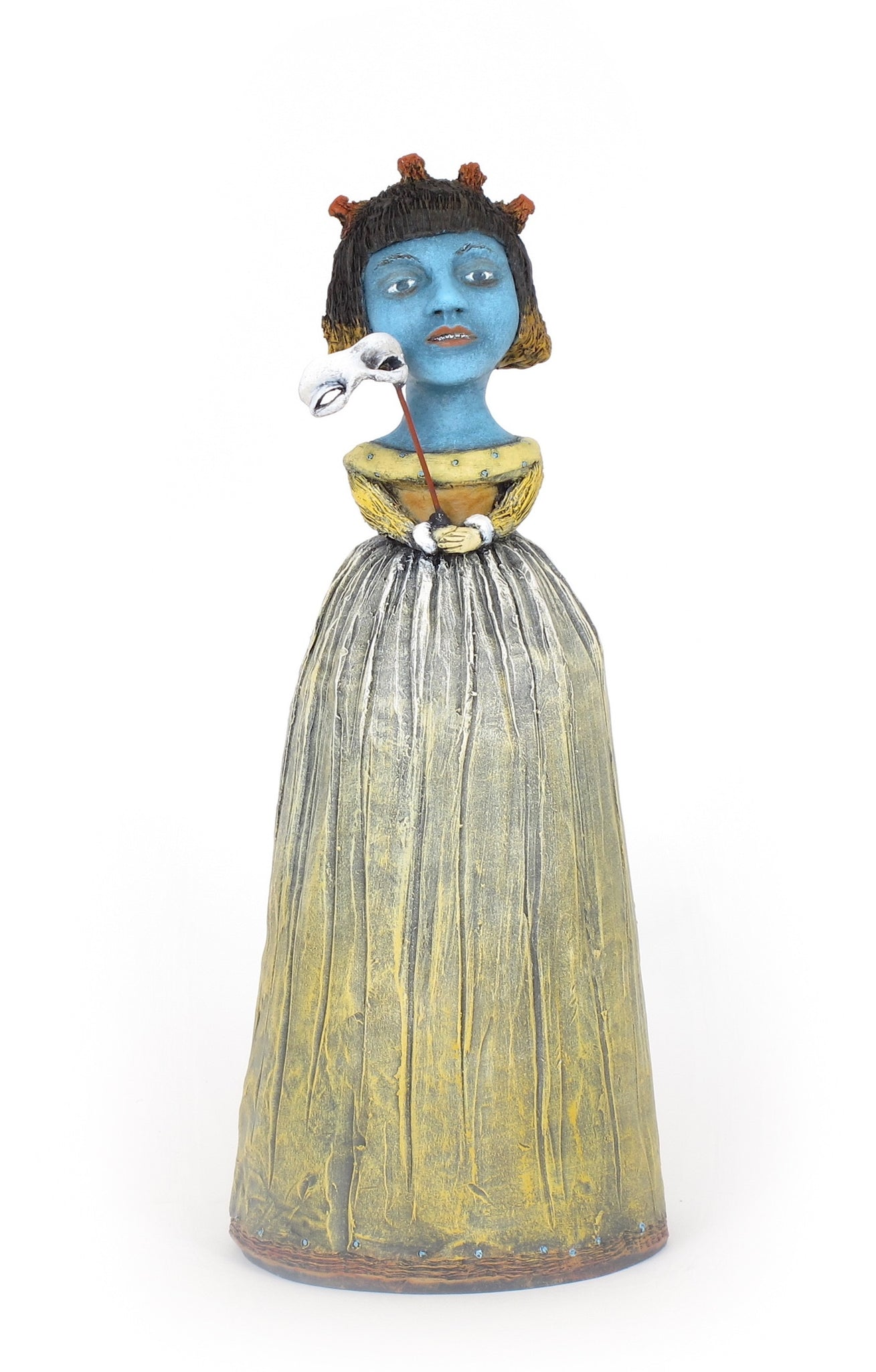 "SOLD   The Unique Masquerading as the Conventional"" original ceramic sculpture by Jacquline Hurlbert"