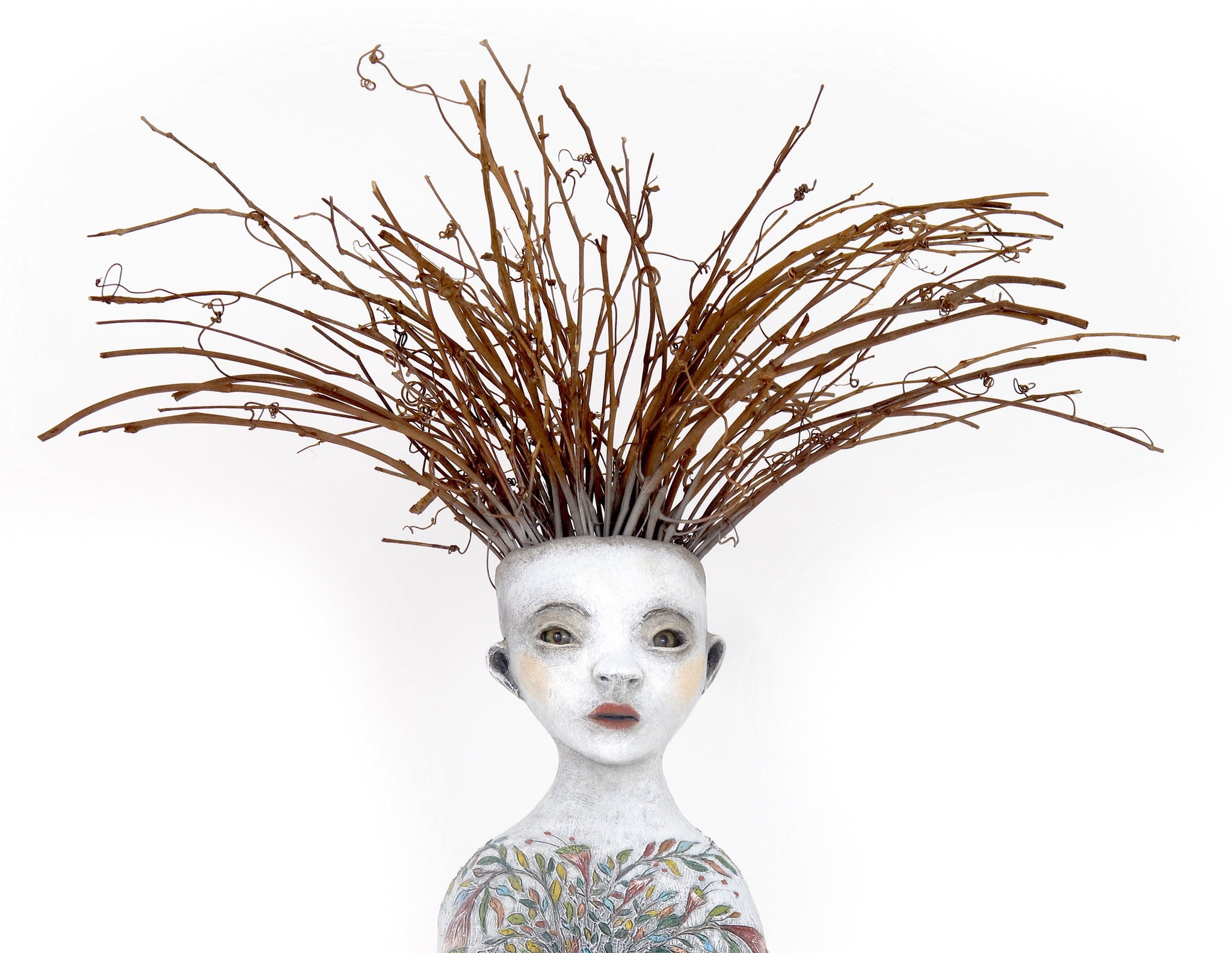 "SOLD   ""Visionary"" original ceramic sculpture by Jacquline Hurlbert"