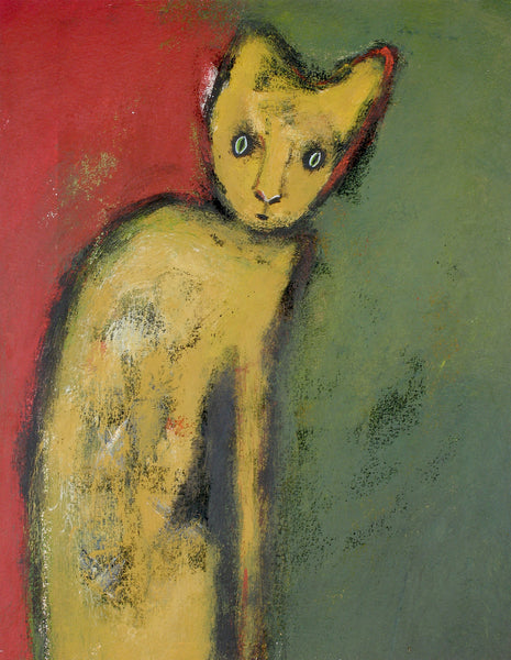 "SOLD   ""Cat Suddenly Realizes that He's on Life Number Nine"""