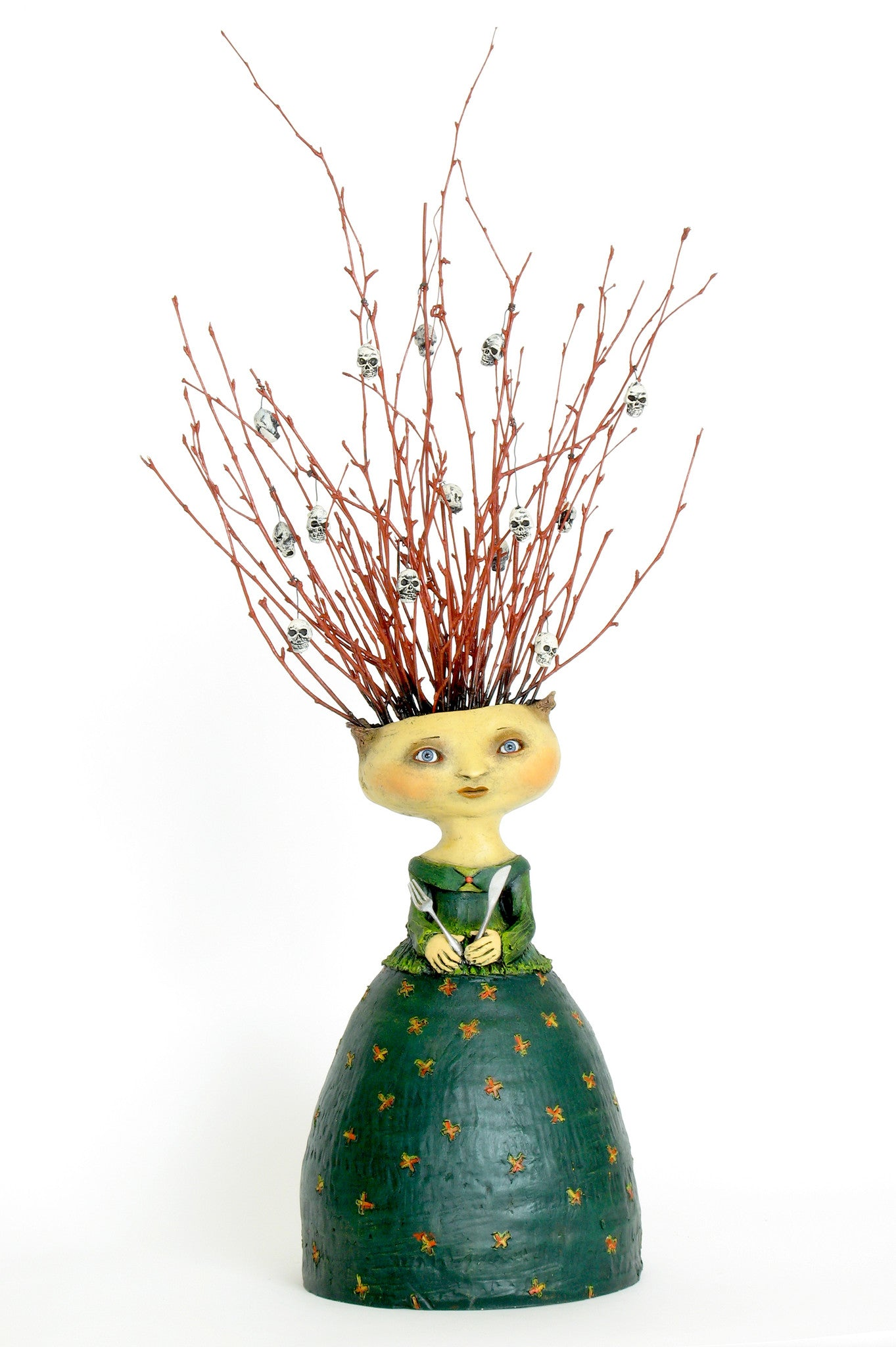 "SOLD - Amy   ""She Found that Some of Her Friends Were an Acquired Taste""  original ceramic sculpture by Jacquline Hurlbert"