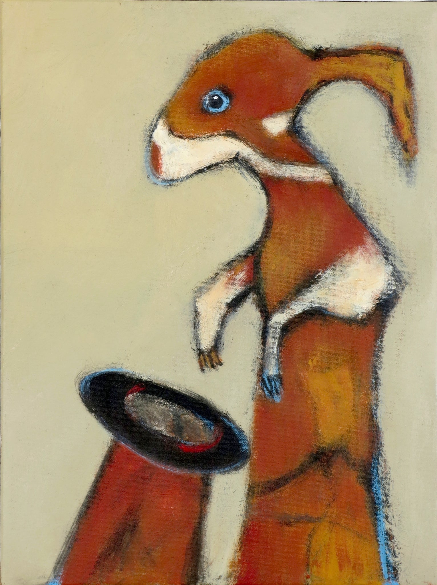 "SOLD   ""Finding the World in Chaos, Rabbit Returns to His Hat"""