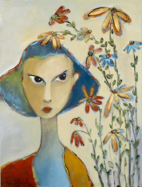 "SOLD   ""Dismayed by Her Garden's Refusal to Live Within It's Clearly Defined Boundaries"" """