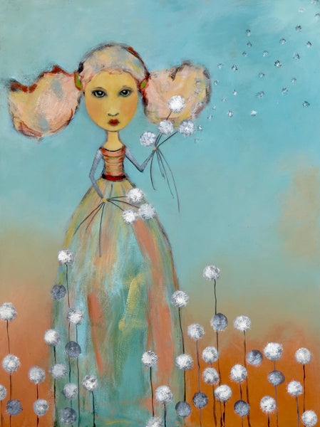 "SOLD   ""Dandelion Girl Puts the Seeds of Change in Motion"""
