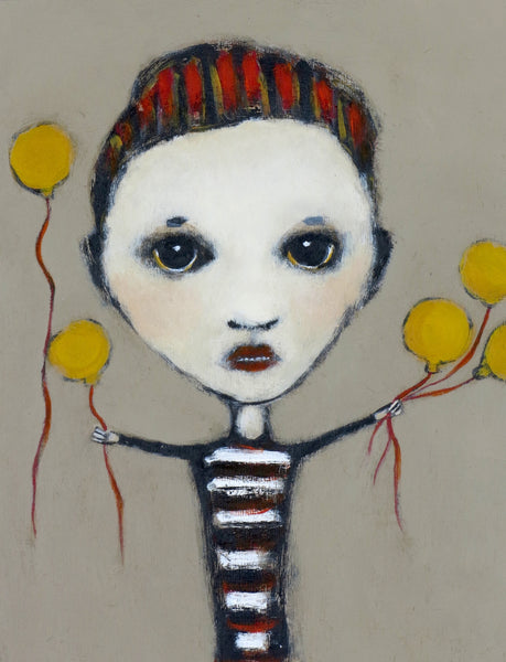 "SOLD   ""Young Boy Selling Sunshine on a String"""