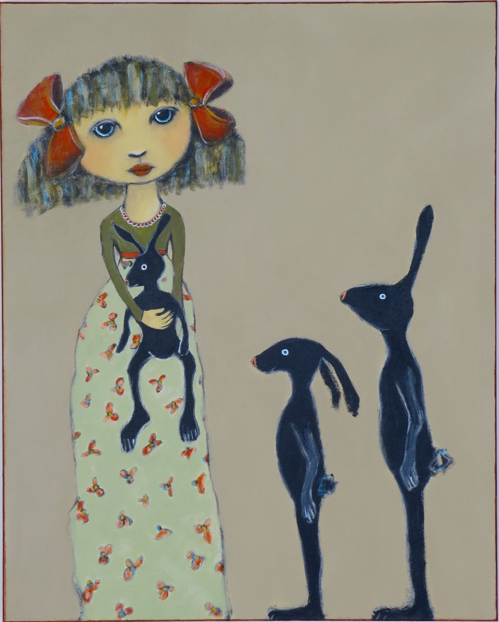 "SOLD  ""Eloise Checks for Gray Hares"""