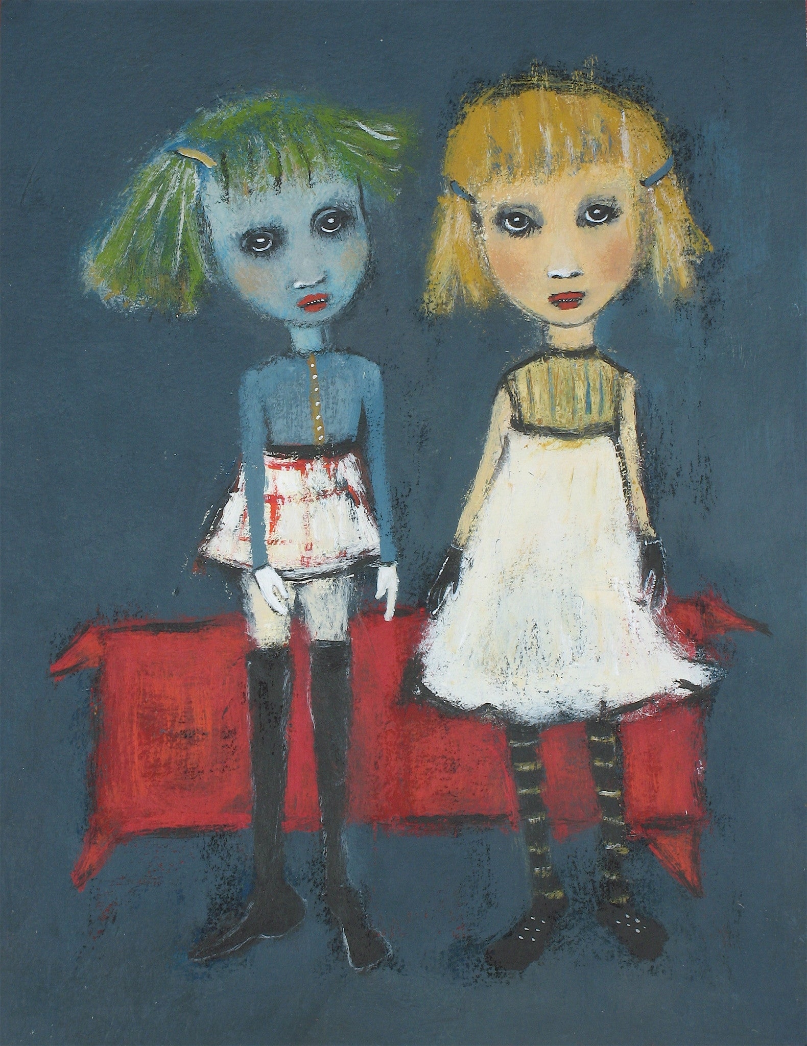 "SOLD ""Young Girls Trying on Attitudes"""