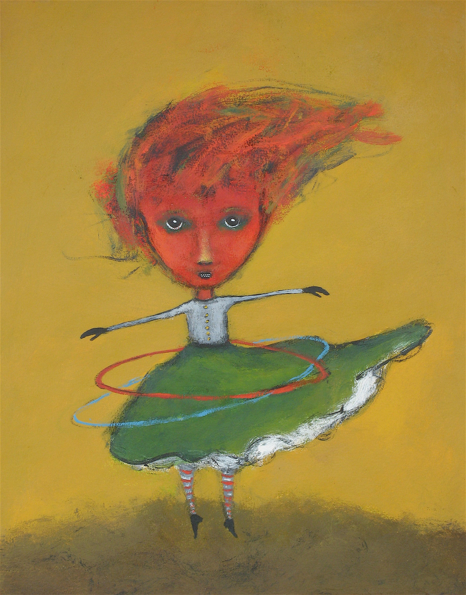 "SOLD  "" Furry Twirls Her Hula Hoops"""