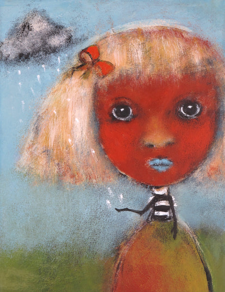 "SOLD   ""Lila Doesn't Go Anywhere Without Her Thundercloud"""