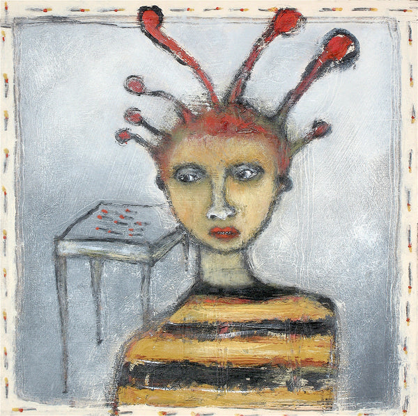 "SOLD   ""Matchstick Boy Adorns His Head"""