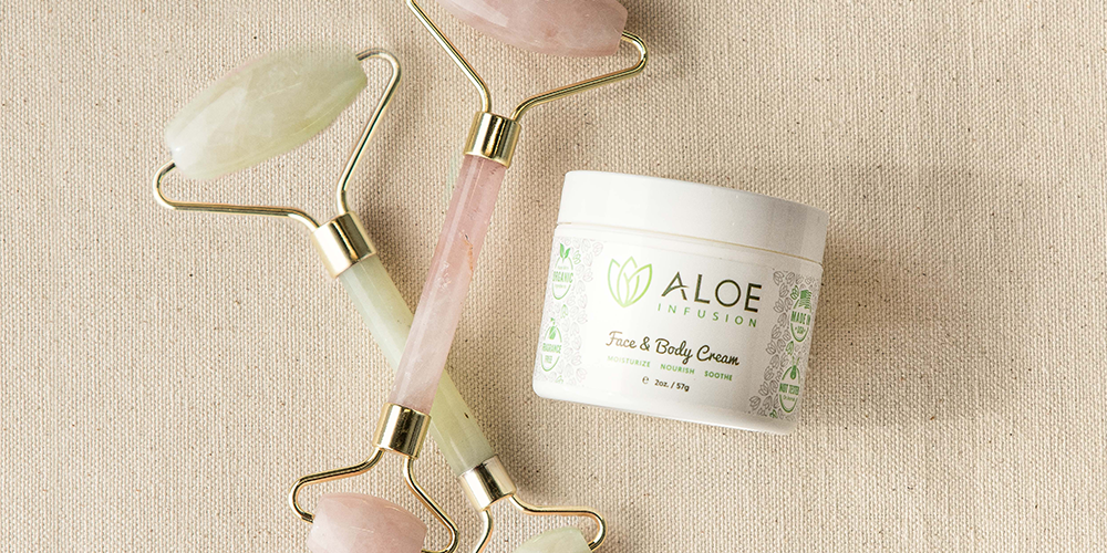 jade rolling aloe infusion face and body cream