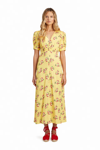 Jill Jill Stuart Louise Lemon Dress