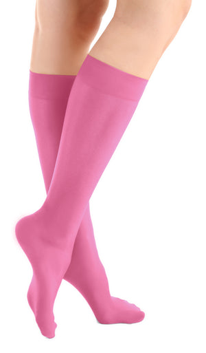 Happy Pink Microfiber Knee High Tights