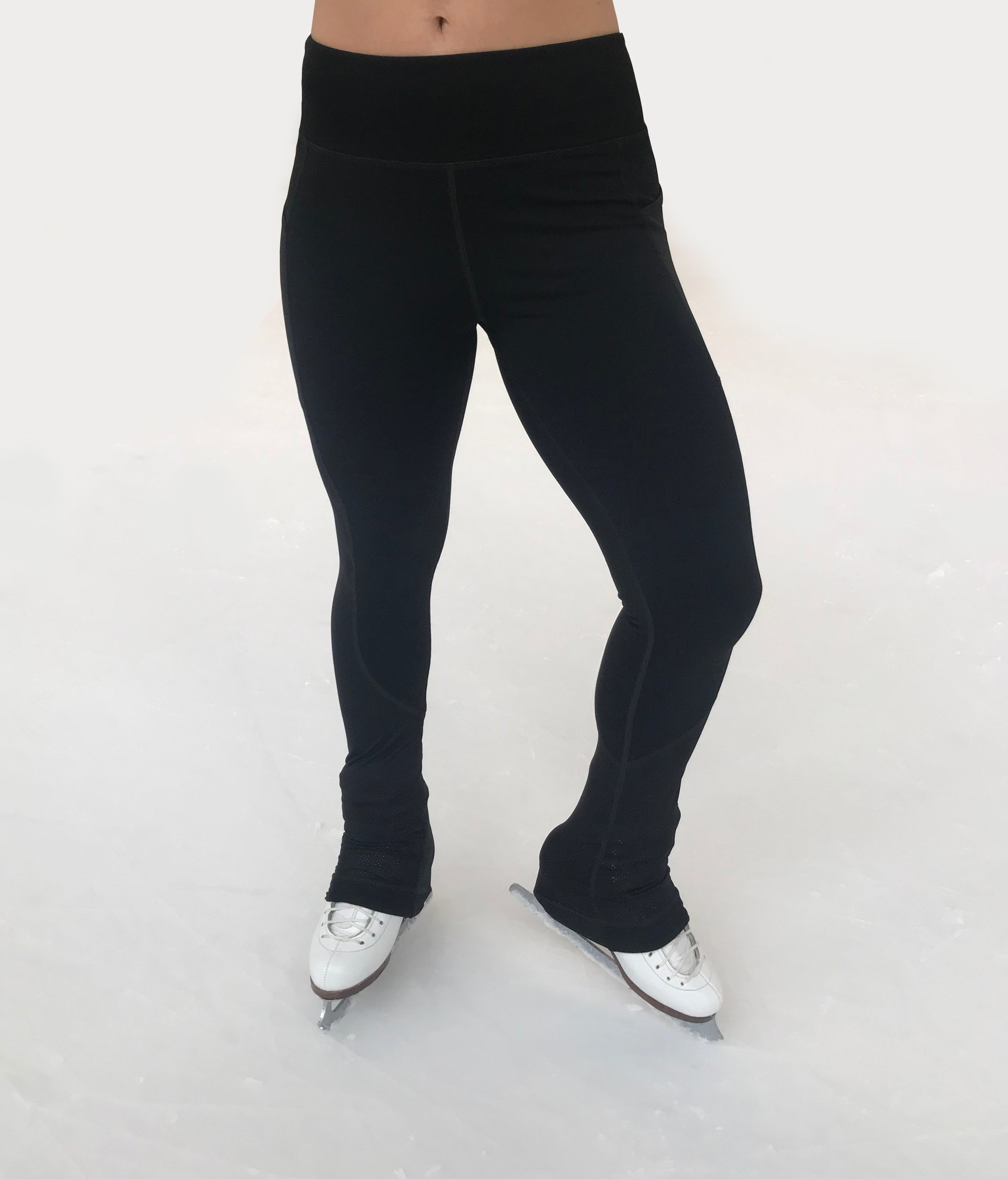Junior's | Figure Skating Practice Pants with Pockets & Performance Mesh